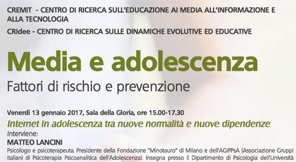 Media e adolescenza. Fattori di rischio e prevenzione