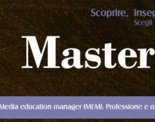 Iscrizioni aperte fino al 10 dicembre per il Master MEM