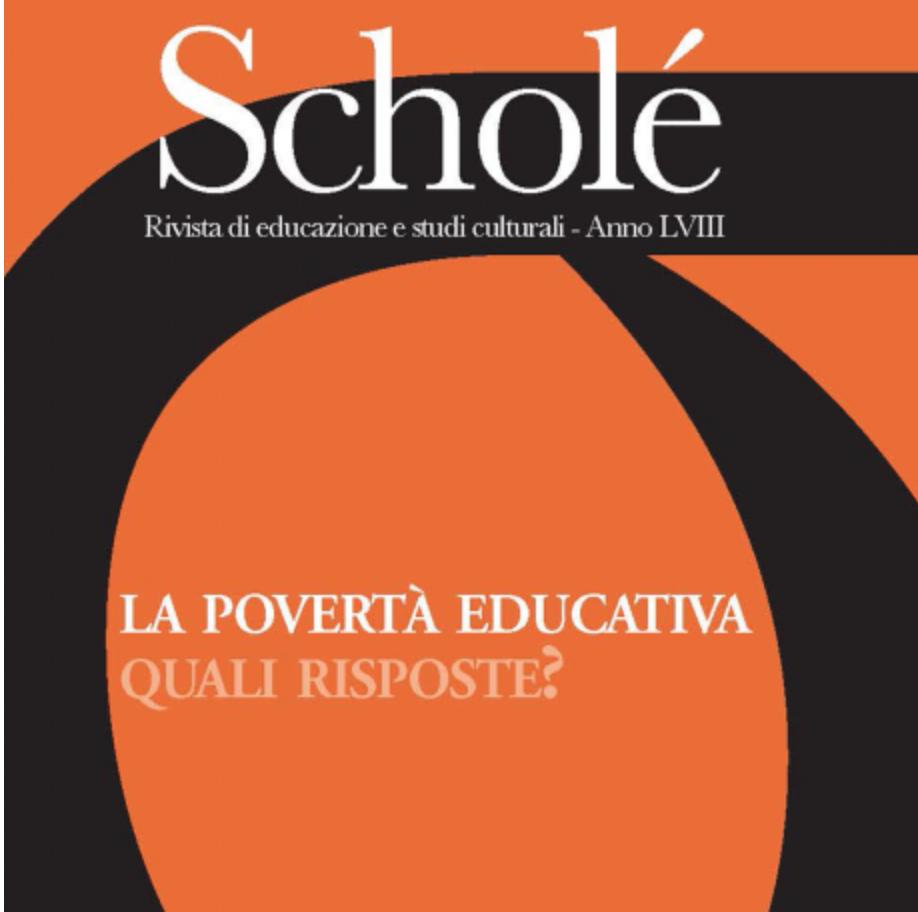 """Pubblicato il nuovo numero di Scholé, """"La povertà educativa e le risposte dell'educazione"""""""